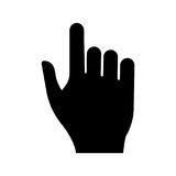 Pointing hand black color icon . Pointing hand it is black color icon Royalty Free Stock Photos