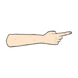 Pointing hand comic cartoon. Pointing hand retro comic book style cartoon Royalty Free Stock Photos