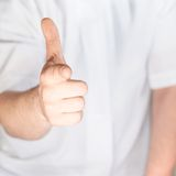 Pointing hand gesture Royalty Free Stock Photos