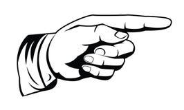 Pointing hand. Illustrator desain .eps 10 Royalty Free Stock Photos