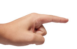 Pointing hand isolated Stock Image