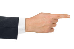 Pointing hand Royalty Free Stock Photo