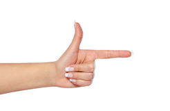 Pointing hand showing direction isolated Royalty Free Stock Image