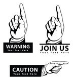 Pointing hand. Symbol illustrator design .eps 10 Stock Illustration