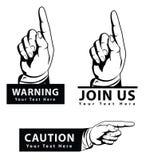 Pointing hand. Symbol illustrator design .eps 10 Royalty Free Stock Photography