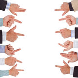 Pointing hands Royalty Free Stock Photos