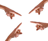 Pointing hands Stock Photography