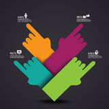 Pointing Hands Infographic Element EPS 10 vector Royalty Free Stock Images