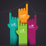 Pointing Hands Infographic Element EPS 10 vector Royalty Free Stock Photography