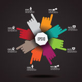 Pointing Hands Infographic Element EPS 10 vector. Pointing Hands Infographic Element. EPS 10 vector royalty free stock illustration for ad, promotion, poster vector illustration