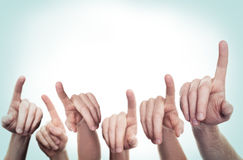 Pointing Hands. Vote Concept Royalty Free Stock Images