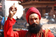 Pointing Hindu man Royalty Free Stock Image