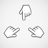 Pointing icon Royalty Free Stock Photography