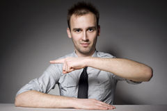 Pointing man Royalty Free Stock Photography