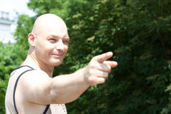 Pointing man royalty free stock photos