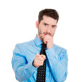Pointing man, can't believe Stock Photo