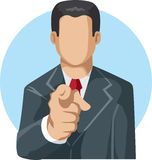 Pointing man icon stock photography