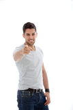 Pointing man Royalty Free Stock Photo