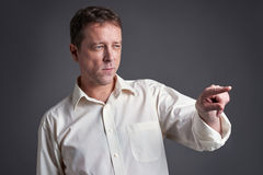 Pointing man Stock Photography
