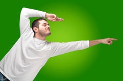 Pointing man Royalty Free Stock Image