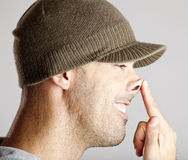 Pointing the nose Stock Photography