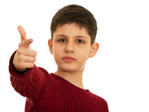 Pointing out teen Royalty Free Stock Images