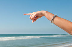 Pointing out to sea Royalty Free Stock Photo