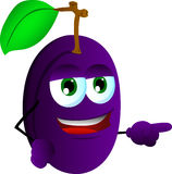 Pointing plum Stock Image