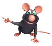 pointing  Rat cartoon character Royalty Free Stock Photo
