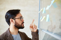 Pointing at reminder Stock Images