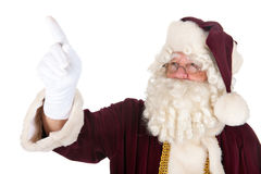 Pointing Santa Claus Royalty Free Stock Photography