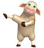 Pointing Sheep  cartoon character Stock Photo