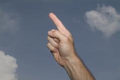 Pointing Skyward Royalty Free Stock Photos