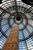 Pointing Skywards. The cone-shaped roof on an inner-city Melbourne shopping centre royalty free stock photo