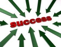 Pointing at success Stock Photos