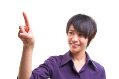 Pointing to empty space Royalty Free Stock Photography
