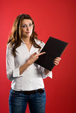 Pointing to the folder Royalty Free Stock Images