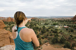 Pointing to the Horizon Royalty Free Stock Images