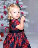 Pointing Toward Christmas Royalty Free Stock Image