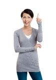 Pointing up hand gesture Stock Images