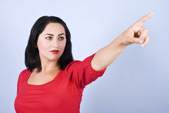 Pointing woman Royalty Free Stock Photos