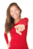 Pointing woman Royalty Free Stock Images