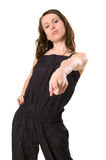 Pointing woman Stock Image