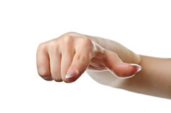 Pointing woman hand Royalty Free Stock Image