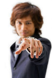 Pointing at you Royalty Free Stock Photo