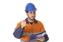 Pointing at you Angry Boss stock image
