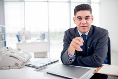 Pointing at you Stock Images
