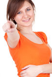 Pointing you girl Royalty Free Stock Images