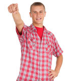 Pointing you young man Stock Images