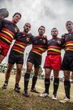 POINTNOIRE/CONGO - 18MAY2013 - Team of amateur friends playing rugby. Africa stock images